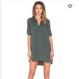 Bella Dahl A- Line Shirt Dress in Frosted Pine